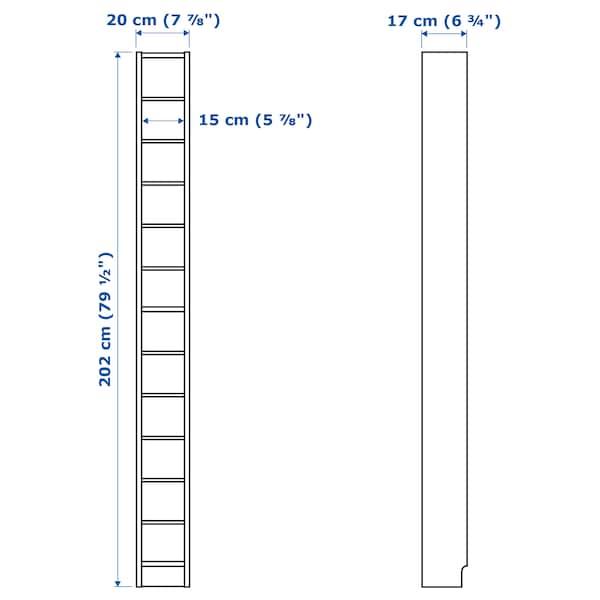 GNEDBY Shelving unit, white, 202 cm