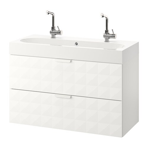 Godmorgon br viken wash stand with 2 drawers resj n - Armario lavabo ikea ...
