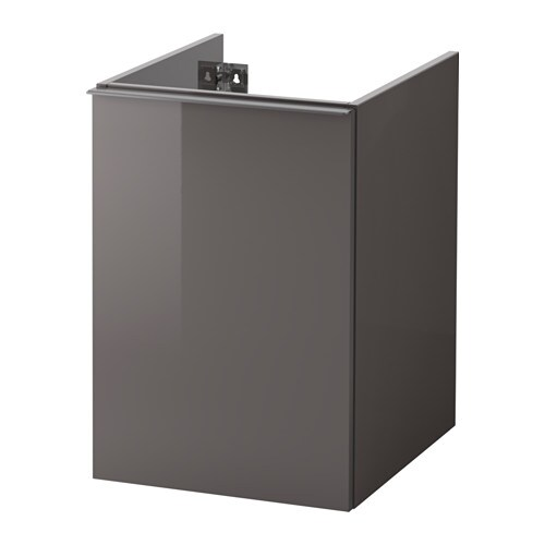 High Gloss Grey Cabinets Ikea: GODMORGON Laundry Cabinet
