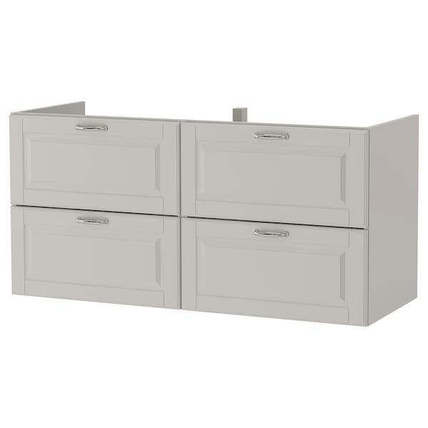 GODMORGON wash-stand with 4 drawers Kasjön light grey 120 cm 47 cm 58 cm