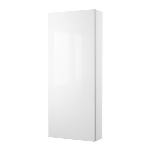 GODMORGON Wall cabinet with 1 door IKEA Shelves of tempered glass; has higher impact resistance and load-bearing capacity than ordinary glass.