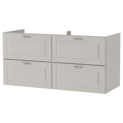 GODMORGON Wash-stand with 4 drawers, Kasjön light grey, 120x47x58 cm