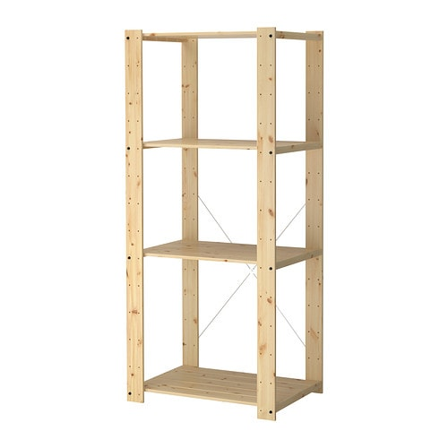 GORM Shelving unit IKEA Untreated wood; can be treated with oil or glazing paint for a personal touch and a more durable surface.