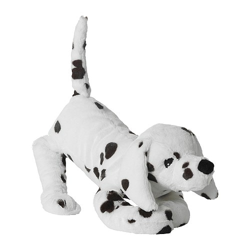 GOSIG VOVVEN Soft toy, dog IKEA All soft toys are good at hugging, comforting and listening and are fond of play and mischief.
