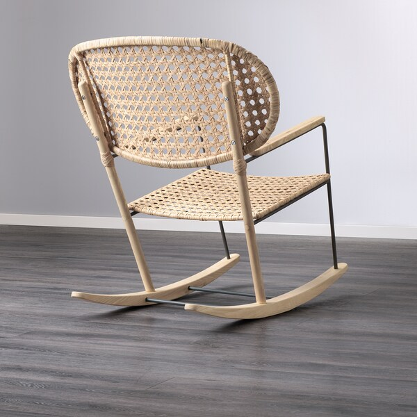GRÖNADAL Rocking-chair, grey/natural
