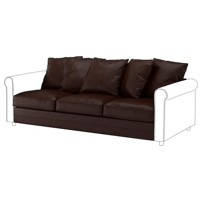 GRÖNLID 3-seat section, Kimstad dark brown