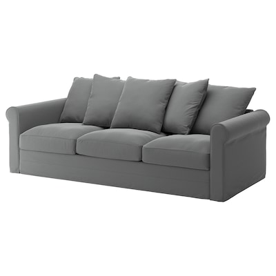 GRÖNLID 3-seat sofa, Ljungen medium grey