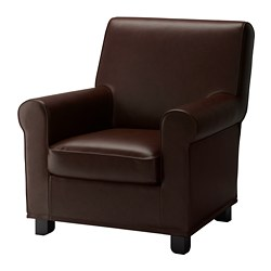 GRÖNLID armchair, Kimstad dark brown