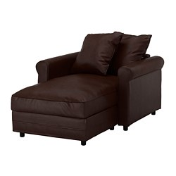 GRÖNLID chaise longue, Kimstad dark brown