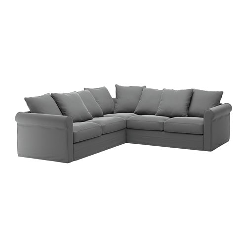 Gr 214 Nlid Corner Sofa 4 Seat Ljungen Medium Grey Ikea