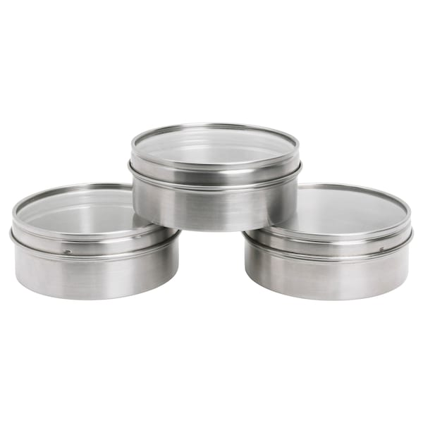 GRUNDTAL Container, stainless steel, 10 cm