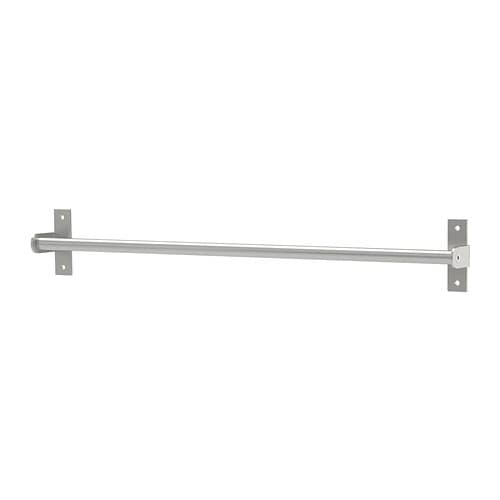 GRUNDTAL Rail IKEA Saves space on the worktop.  Can also be used as a towel rail or a pot lid rack.