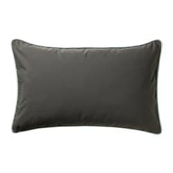 GULLINGEN cushion cover, in/outdoor, dark olive-green