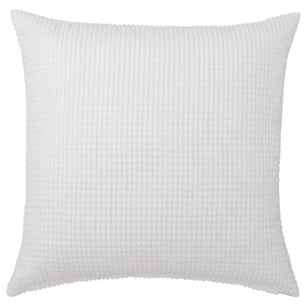 GULLKLOCKA Cushion cover, white, 65x65 cm
