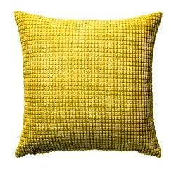 GULLKLOCKA cushion cover, yellow