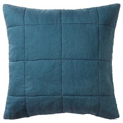 GULVED cushion cover dark blue 65 cm 65 cm 64 g 245 g