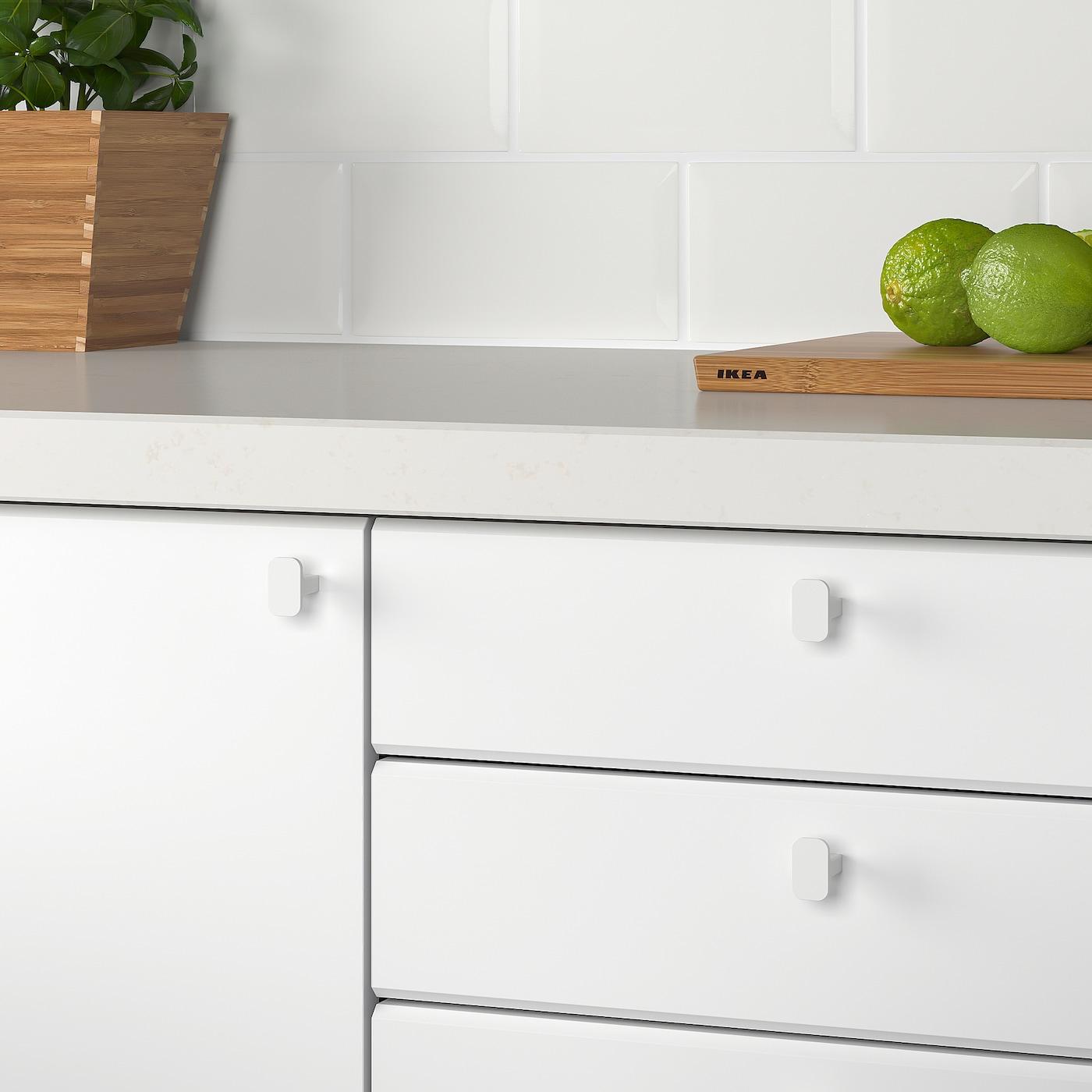 *New* HACKÅS Knob White /& Anthracite 15 mm//2 Pack *Brand IKEA*