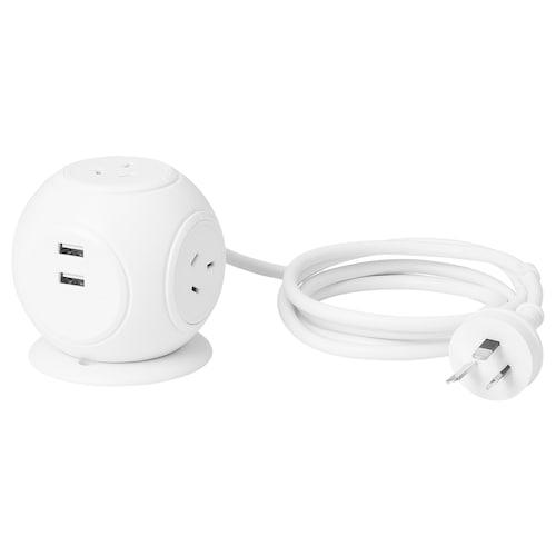 IKEA HAGSTA 3-way socket with 2 usb ports