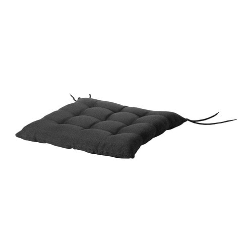 Hallo Chair Cushion Outdoor Black Ikea