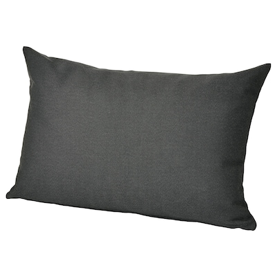 HÅLLÖ Back cushion, outdoor, black, 62x42 cm