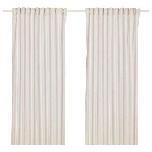 HANNALILL curtains, 1 pair beige 250 cm 145 cm 1.00 kg 3.63 m² 2 pack