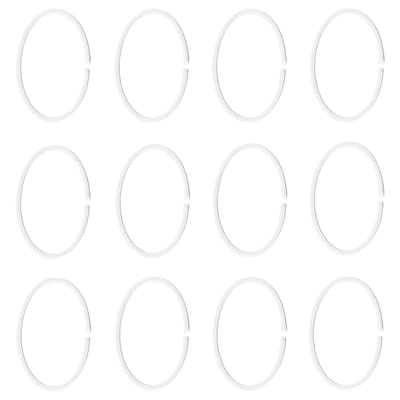 HASSJÖN Shower curtain ring, white