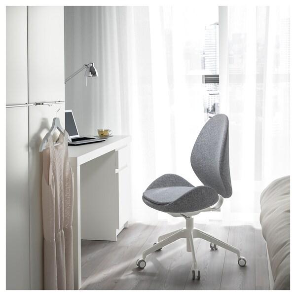 HATTEFJÄLL Office chair, Gunnared medium grey