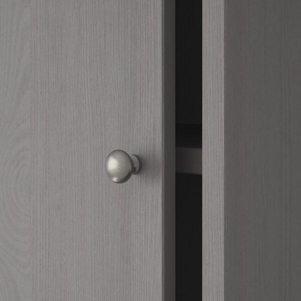 HAVSTA storage comb w sliding glass doors grey 121 cm 47 cm 212 cm 32 kg