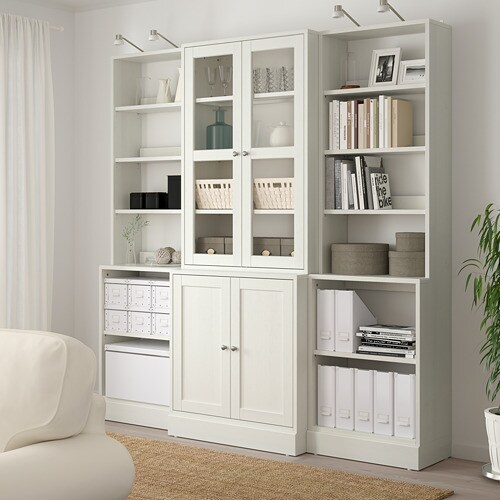HAVSTA Storage combination w glass doors IKEA Made of wood from sustainable sources.