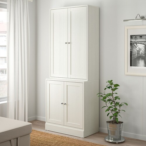 HAVSTA Storage combination with doors IKEA Made of wood from sustainable sources.