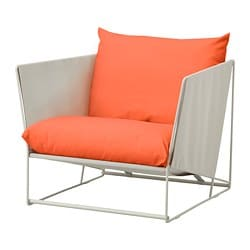 HAVSTEN armchair, in/outdoor, orange, beige