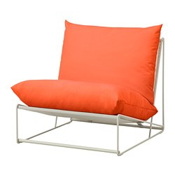 HAVSTEN easy chair, in/outdoor, orange, beige