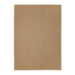 HELLESTED rug, flatwoven, natural, brown