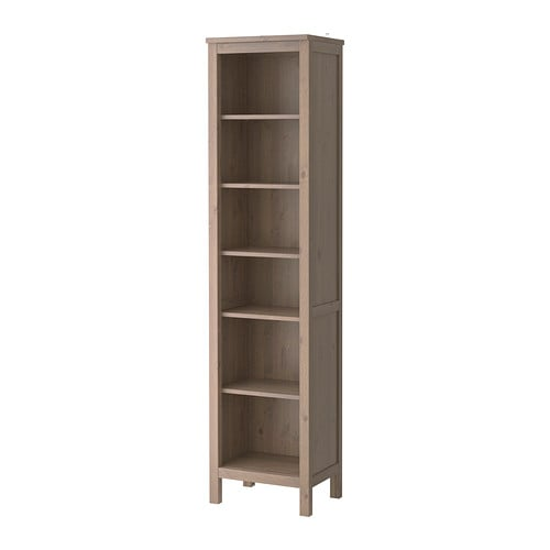 Hemnes bookcase grey brown ikea for Ikea wooden bookshelf