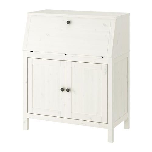Hemnes bureau white stain ikea - Ikea bureau secretaire ...
