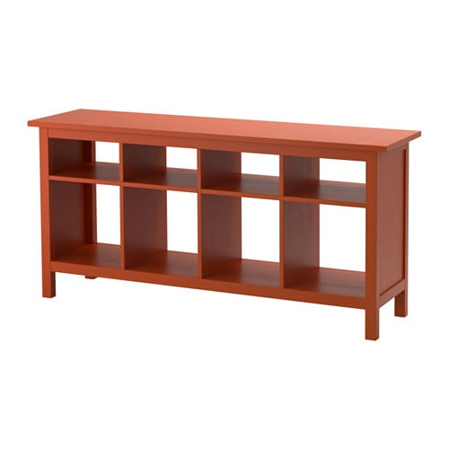 Hemnes console table redbrown ikea for Console table extensible ikea