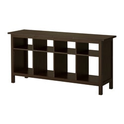 HEMNES console table, black-brown