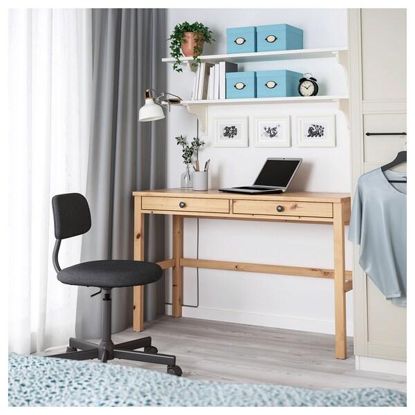 HEMNES Desk with 2 drawers, light brown, 120x47 cm
