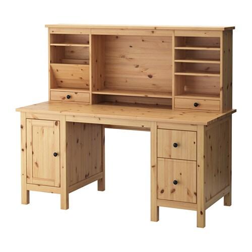 Eckschreibtisch ikea hemnes  HEMNES Desk with add-on unit - light brown - IKEA