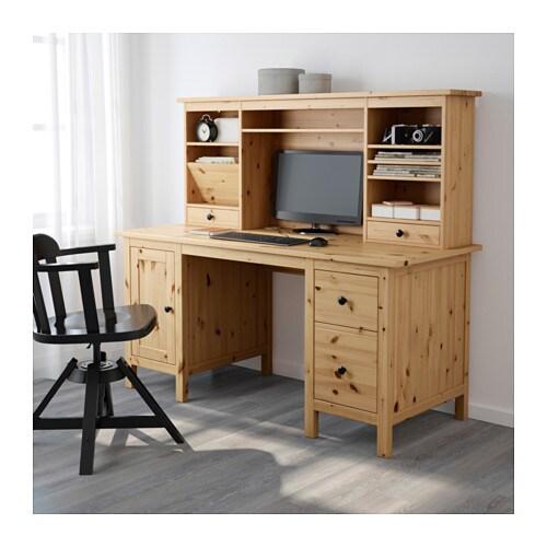 Eckschreibtisch ikea hemnes  HEMNES Desk with add-on unit - white stain - IKEA