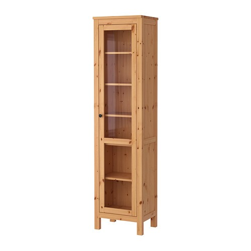Ikea Wickelkommode Schreibtisch ~ HEMNES Glass door cabinet IKEA Solid wood has a natural feel