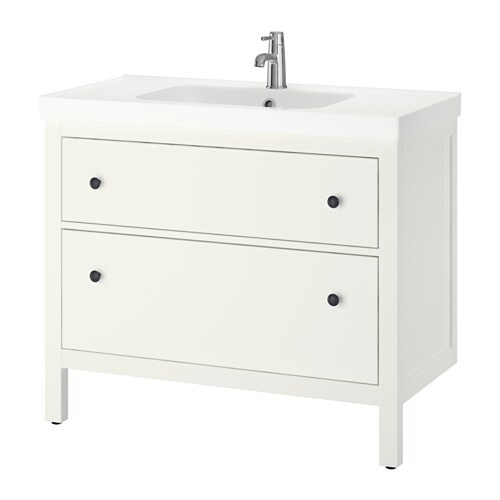 HEMNES / ODENSVIK Wash-stand with 2 drawers IKEA Smooth-running and soft-closing drawers with pull-out stop.
