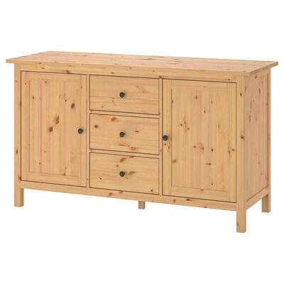 HEMNES Sideboard, light brown, 157x88 cm