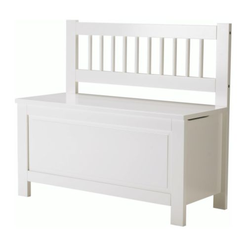 HEMNES Storage bench IKEA The lid closes slowly to minimise the risk of the child getting its fingers caught. Practical storage space under the lid.