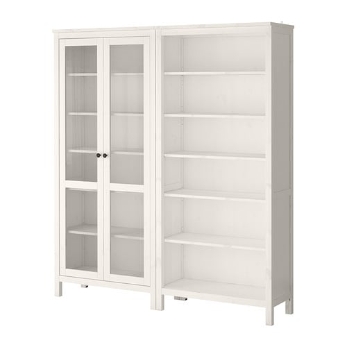 Ikea Schreibtisch Kombination ~ HEMNES Storage combination w glass doors  white stain  IKEA