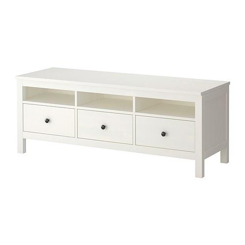 HEMNES TV bench  white stain  IKEA