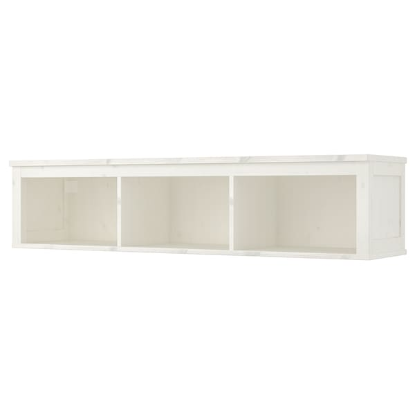 HEMNES Wall/bridging shelf, white stain, 148x37 cm