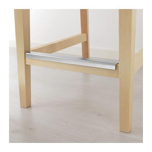 Henriksdal Bar Stool With Backrest Frame Birch 63 Cm Ikea