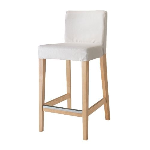 Henriksdal bar stool with backrest 63 cm ikea - Chaise blanc et bois ...