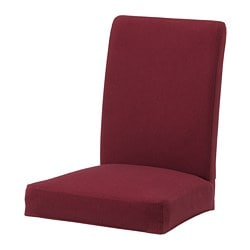 HENRIKSDAL chair cover, Nykvarn dark red
